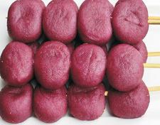 烧烤紫薯饼